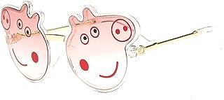 XUANTAO - Gafas de Sol para niños de Dibujos Animados Lindo Piggy Gafas de Sol para niños Moda Metal océano Pieza Gafas de Sol para niños