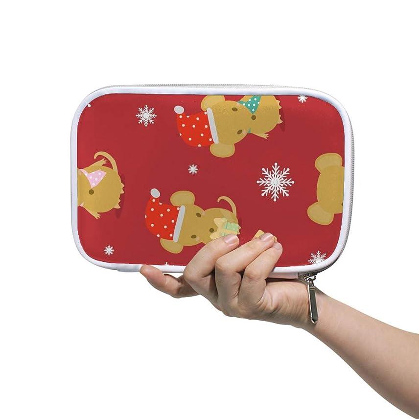 スライムエイリアンベーカリーZHIMI 化粧ポーチ メイクポーチ レディース コンパクト 柔らかい おしゃれ コスメケース 化粧品収納バッグ メリークリスマス 雰囲気 機能的 防水 軽量 小物入れ 出張 海外旅行グッズ パスポートケースとしても適用