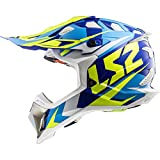 LS2-404702054S/162 : LS2-404702054S/162 : Casco enduro offroad motocross SUBVERTER MX470 NIMBLE COLOR BL/AZ/AM TALLA S