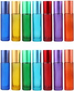 Beaupretty – Frascos roll-on para óleos essenciais, frascos de vidro vazios para viagem, frascos de 10 ml com funil conta-...
