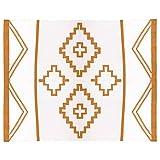 Aztec Blanket, Southwestern Blanket, Bohemian Blanket (Rust)