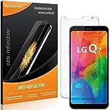 SWIDO Schutzfolie für LG Q7 [2 Stück] Anti-Reflex MATT Entspiegelnd, Hoher Festigkeitgrad, Schutz vor Kratzer/Folie, Bildschirmschutz, Bildschirmschutzfolie, Panzerglas-Folie