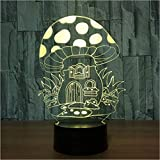 Baby Spielzeug 3D colorido USB seta casa Nightlight gradientes llevó lámpara de escritorio iluminación dormitorio decoración luces