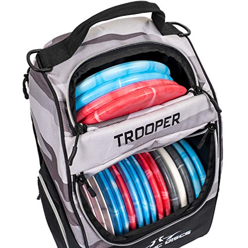 Dynamic Discs Trooper Disc Golf Backpack | Arctic Camo | Frisbee Disc Golf Bag with up to a 25 Disc Capacity | Introductory Disc Golf Backpack | Lightweight and Durable