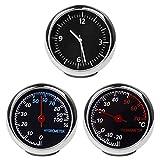 Termometro igrometro per auto, mini orologio classico, termometro per cruscotto, igrometro e...