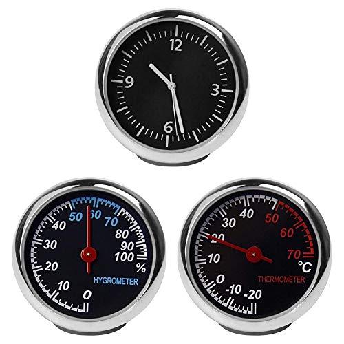 Auto Thermometer Hygrometer Uhr, Mini Small Classic Dashboard Thermometer Hygrometer Uhr, Anzug Für Auto Boot Dekoration