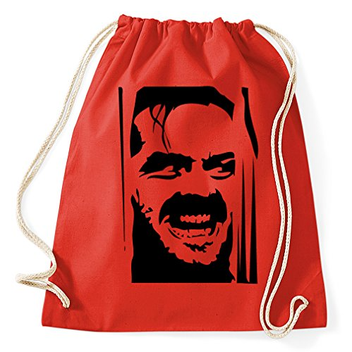 Styletex23 The Shining Jack Nicholson Turnbeutel Sportbeutel, red