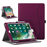 Fintie Case for iPad 9.7' 2018/2017, iPad Air 2 / iPad Air - [Corner Protection] 360 Degree Rotating Smart Stand Cover with Pocket, Pencil Holder, Auto Sleep/Wake for iPad 6th / 5th Gen, Purple
