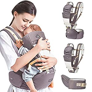 Mochila Portabebé Ergonómico Multifuncional 4 en 1 Fular Porta Bebé con Múltiples Posiciones Suave Ajustable para Niños…