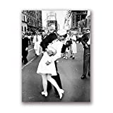 Tag in Times Square Poster drucken Kuss Wandkunst Leinwand