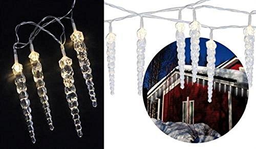 LED Eiszapfen Lichterkette Innen und Außen Eis Zapfen NEU