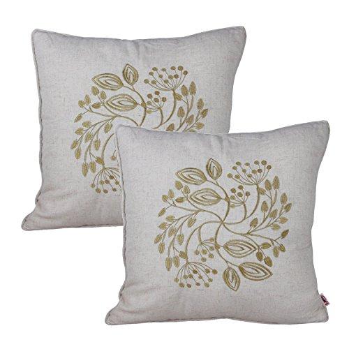 Queenie®–1pc de bordados de flores sobre fondo sólido (lino y algodón manta decorativa Funda de almohada bordado manta funda de almohada almohada Sham fundas de cojín 18x 45,72cm 45x 45cm