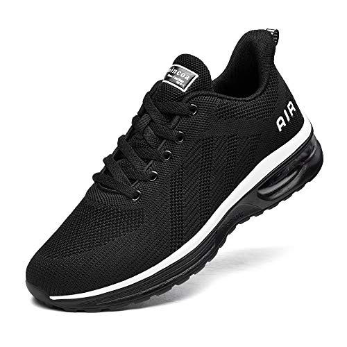 Lamincoa Men Air Running ShoesComfort Tennis Athletic Casual Sport Sneakers for Gym Walking Jogging Black Size 11