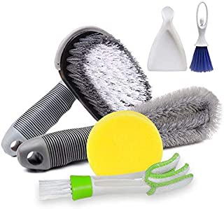 6-piece cleaning kit for car/truck/truck/camping vehicle-nylon brush for flat surfaces (wheels, tires, bumpers, floor mats...