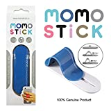 [Original] MOMOSTICK: Stand and Finger Grip for Any Smartphones Like iPhone & Android Phones with Reusable Sticky Gel Pad (Blue)