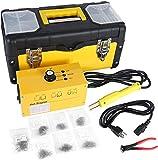 GOGOLO 110V Auto Plastic Bumper Repair Collision Kit, 20W Hot Stapler Plastic Welder Staple Gun with 700pcs Staples, Carry Box and Snips