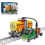 GUDA Eisenbahn Zug Bausteine Modell,199 Stück DIY Montage Eisenbahn Zug Lokomotive Bausteine Modellsteine Set für Kinder,kompatibel mit Lego