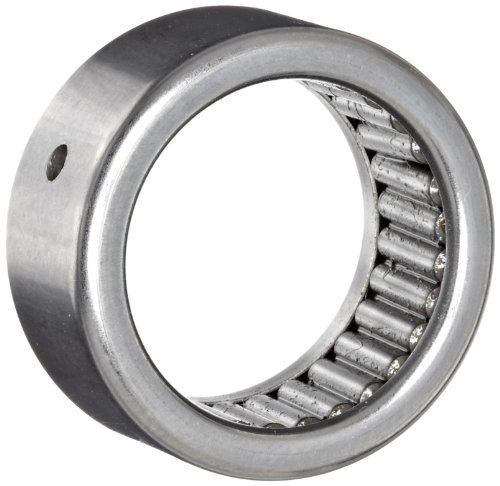 Koyo B-1212-OH Needle Roller Bearing, Full Complement Drawn Cup, Open, Oil Hole, Inch, 3/4' ID, 1' OD, 3/4' Width, 5500rpm Maximum Rotational Speed