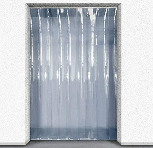 Acepunch Cortina de tira de plástico PVC 90cm x 200cm (3 x 6.6 ft.) Conjunto para Entrar Congelados, Puerta del Almacén y Habitaciones Limpias AP1173