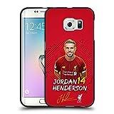 Head Case Designs Licenciado Oficialmente Liverpool Football Club Jordan Henderson 2019/20 Primer Equipo Grupo 1 Funda de Gel Negro Compatible con Samsung Galaxy S6 Edge
