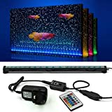 NEWNEN Fish Tank Light Waterproof Aquarium Lights Remote Control 5050 LED Color Changing,Air Bubble lights with 24key controller for Fresh and Saltwater Aquarium 52cm/20.4inch