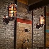 QYHOME Vintage Rustikal Spiegel Wandlampen Bad Wandleuchte Spiegelbeleuchtung