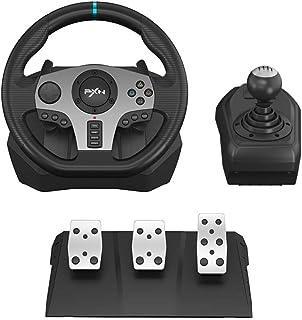 فرمان PC ، PXN V9 Universal Usb Car Sim 270/900 درجه فرمان مسابقه با 3 پدال پدال و بسته نرم افزاری شیفت برای Xbox One ، Xbox Series X / S ، PS4 ، PS3 ، Nintendo Switch