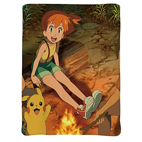 MEW Anime Poke-mon Lightweight Blankets, Pikachu Ash Ketchum (3), Soft Cozy Warm Cute Flannel Fleece Throw Blanket for Adult and Kids,Living Room Bedroom Study Couch Bed and Beach Travel,60x50 inches