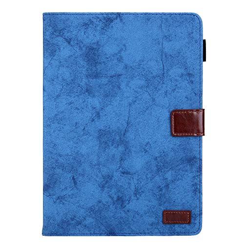 Ostop Compatible avec Coque iPad 10.2 2019,Étui Portefeuille Porte Carte Mince [Sommeil/Réveil Automatique][Porte-Crayons] Silicone TPU Souple Arrière Support Housse pour iPad 10.2\