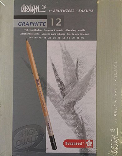 Bruynzeel Design Graphite Pencils, Box Set of 12