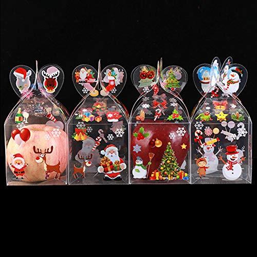 24 Stück Weihnachten Geschenkbox Weihnachten Mitbringsel Taschen Kuchen-Kästen Bäckerei Treat Boxen Schokolade Pralinenschachtel für Weihnachten Geschenk Weihnachtsdeko
