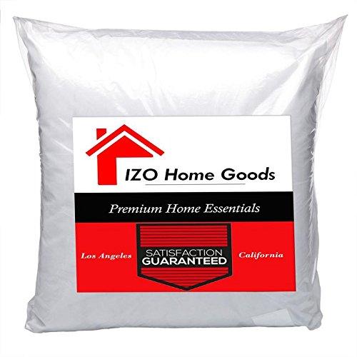 "IZO All Supply 20"" x 20"" Rectangular Sham Stuffer Hypo-allergenic Poly Pillow Form Insert, Throw Pillows, Throw Pillow Insert"
