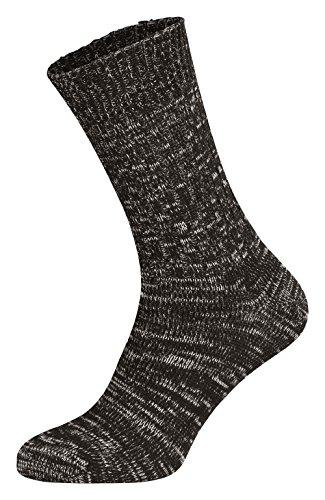 Tobeni 5 Paar Original Jeans Socken Herrensocken Arbeitssocken Baumwollsocken nahtlos Schwarz Grösse 43-46