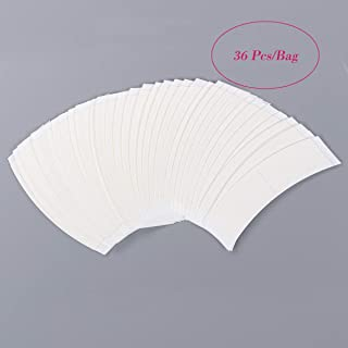 C Contour Lace Front Wig Tape Strips, Curve Double Sided Adhesive Tapes for Hair Extensions/Lace Front Support Wig/Toupee and Hairpiece 36 Pcs/Bag-White Color