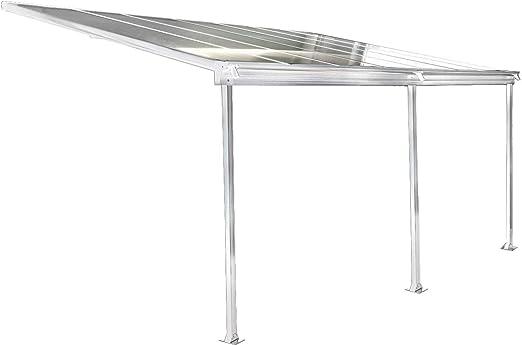 osoltus Techo de aluminio para terraza, color blanco.
