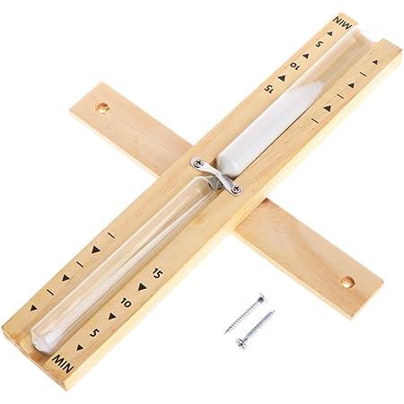 Cuigu Sauna Sablier de sauna avec minuteur rotatif, minuteur en bois 15 minutes 29 x 4,7 cm