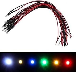10x Superhelle LEDs 3mm Gelb für 5V 20cm Kabel 2000…2500mcd 30°