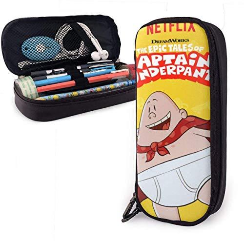 Captain_Underpants-Fly Unisex-Federmäppchen für Kinder Stiftschachtel Reißverschluss Schreibwarenbeutel Große Kapazität Buggy-Taschen für Mädchen Jungen