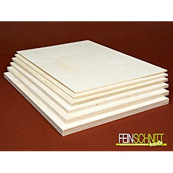 50x130 cm 3mm Sperrholz-Platten Zuschnitt L/änge bis 150cm Birke Multiplex-Platten Zuschnitte Auswahl