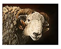 DIY5Dダイヤモンド絵画デジタルウォールステッカーポスターアート 羊の子羊 家の壁の装飾の贈り物に非常に適しています