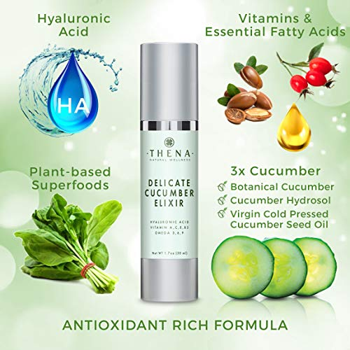 51rk0EAZ3tL - Cucumber Elixir Anti aging Face Cream With Hyaluronic Acid, Natural & Organic Facial Moisturizer Face Lotion Anti aging Face Moisturizer For Women & Men Best Face & Skin Care