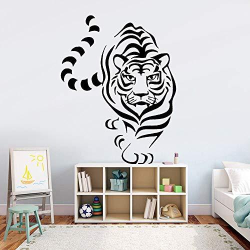 wZUN Etiqueta engomada de la Pared del Tigre decoración de la habitación del bebé Vinilo Animal Fresco calcomanía de la Pared del jardín de Infantes Sala de Estar 63X48cm