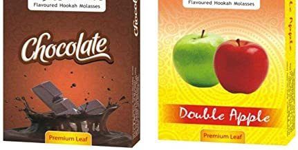 ASHDIM Set of Two (2) Chocolate and Double Apple Hookah Flavour (Pack of 2)