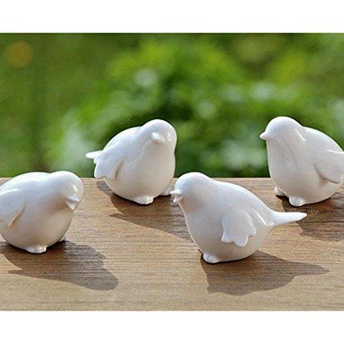 Uccellino porcellana bianca passerotto soggetti misti bomboniera sopramobile
