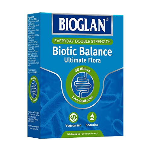 Bioglan everyday double strength, biotic balance, 30 capsules food supplement