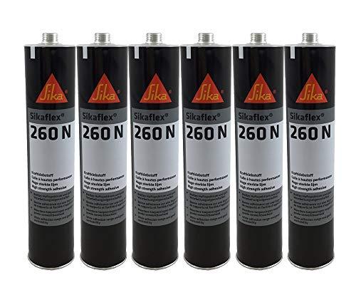 Sparset 6x Sikaflex 260N extrem starker Kraftklebstoff 300ml schwarz