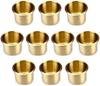 Lot of 10 Brass Drop In Cup Holders Standard Size by Brybelly