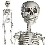 PREXTEX - Esqueleto de 76 cm para Halloween - Esqueleto de Cuerpo Entero con Articulaciones Movibles para la Mejor Decoración de Halloween