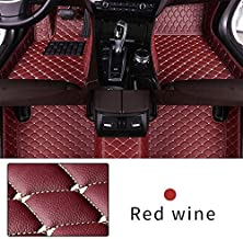Car Floor Mat Custom Made For Most models Full Coverage Interior Protection Waterproof Non-Slip Leather Mat Red Wine