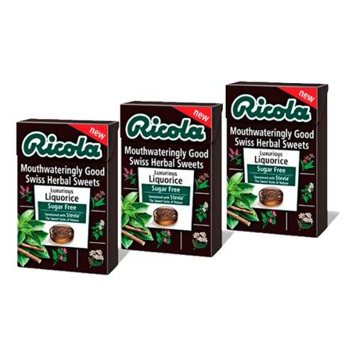 Ricola Liquorice Swiss Herbal Sweets 45g-PACK OF 3